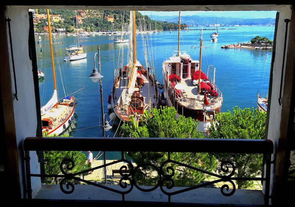 Le Grazie Harbour from our apartment window