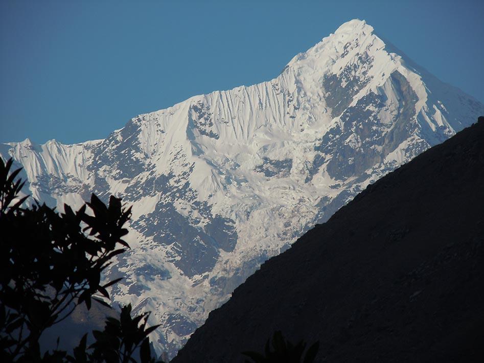 View from Wayllabamba camp - Day 1