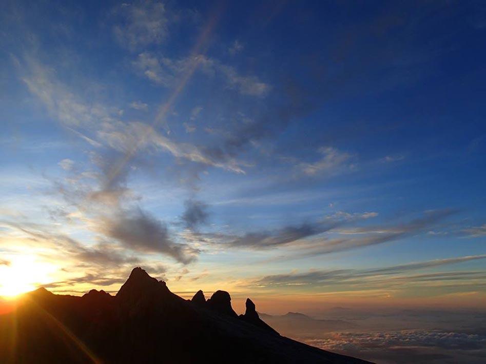 Sunrise over Kinabalu.