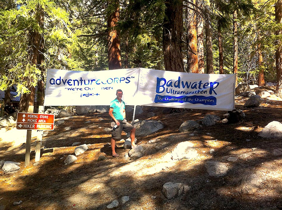 Badwater Marathon Finish at Mt Whitney trail head