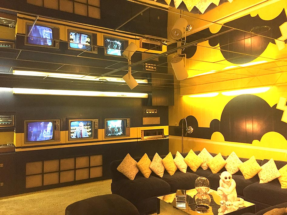Graceland's Yellow TV Room.