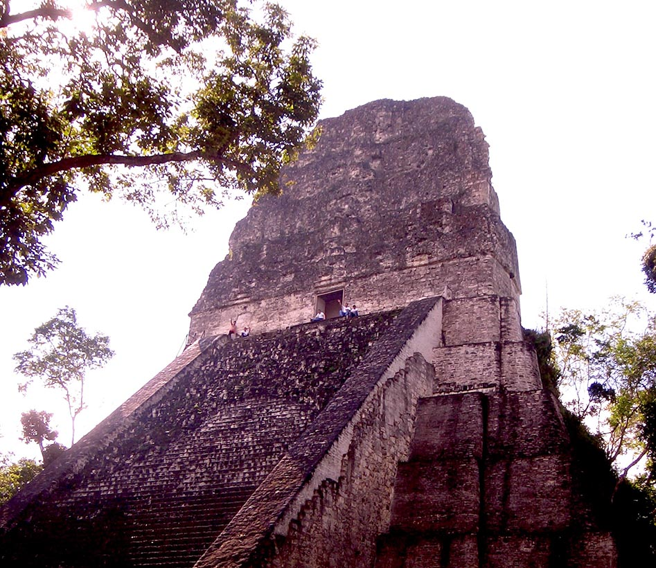 Pyramid IV at Tikal Ruins
