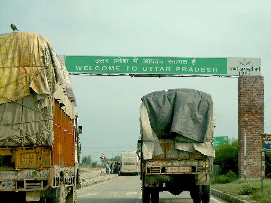 Uttar Pradesh. Uttar Chaos after two flat tyres!