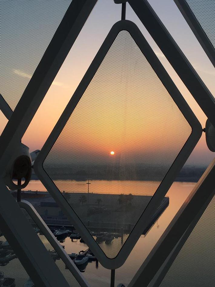 Sunrise at the Yas Viceroy Hotel