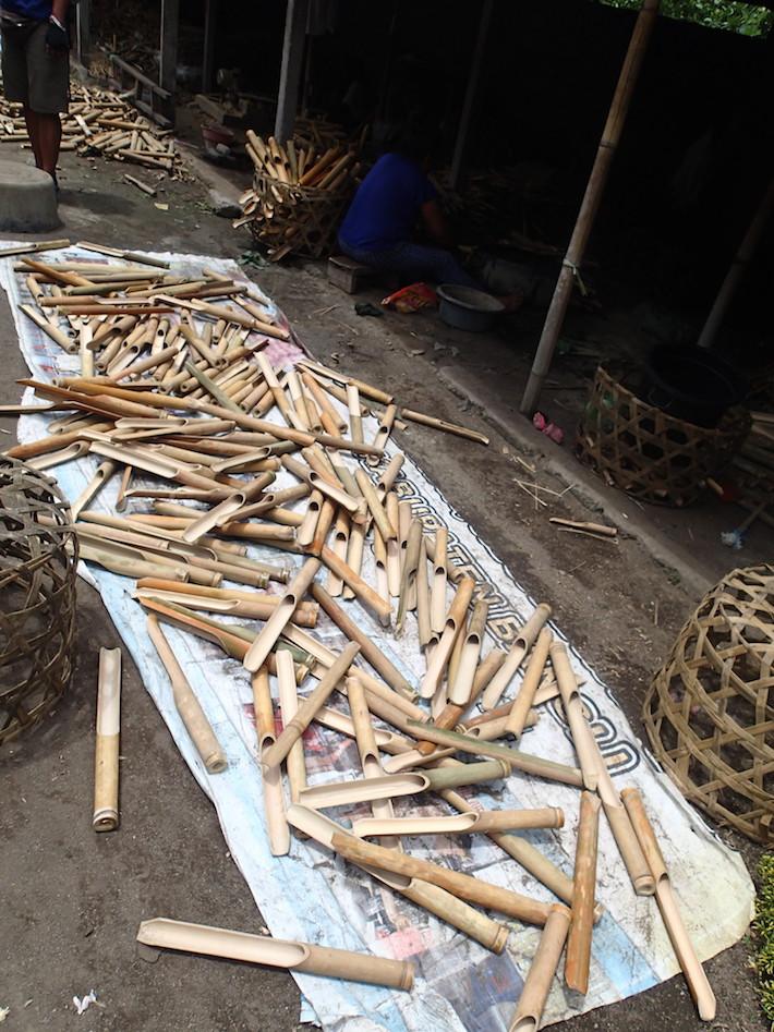 Bamboo carvers Sepeda Bali