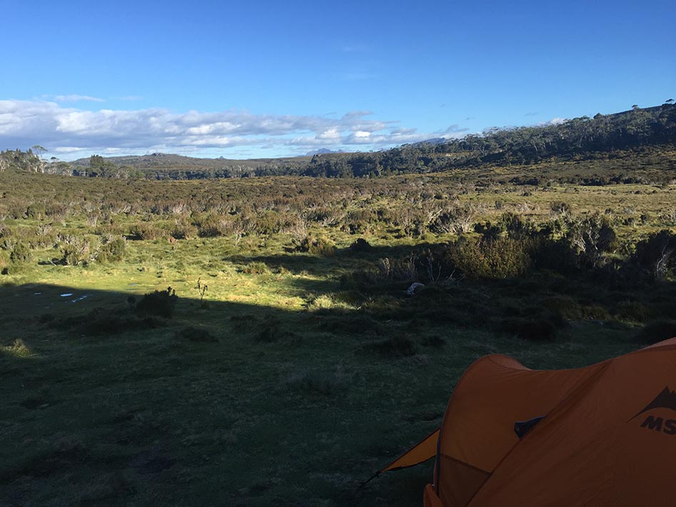 Waterfall Valley camp.