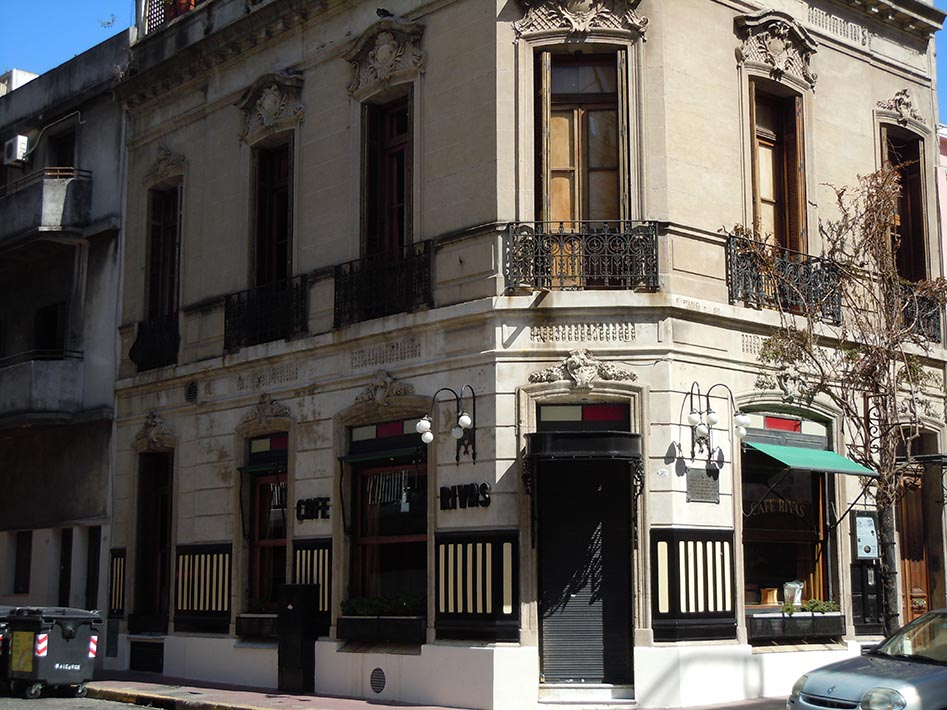 The European architecture of Buenos Aires represented by a cafe in San Telmo