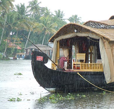 rice barge backwaters kerala india
