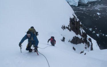 paradise bay mountain climbing antarctica