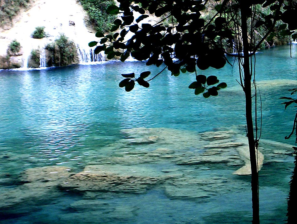 The blue-green pools of Semuc Champey