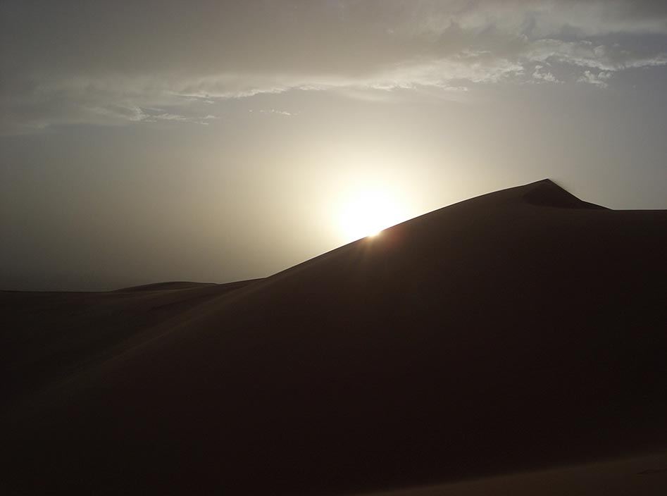 Saharan sunset