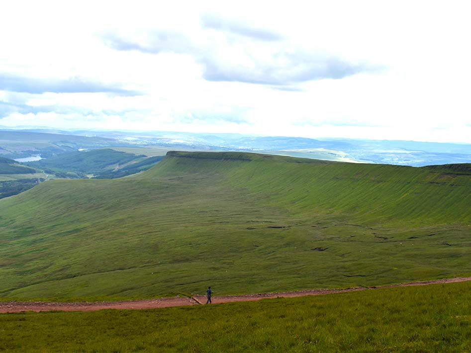 Descending Pen y Fan