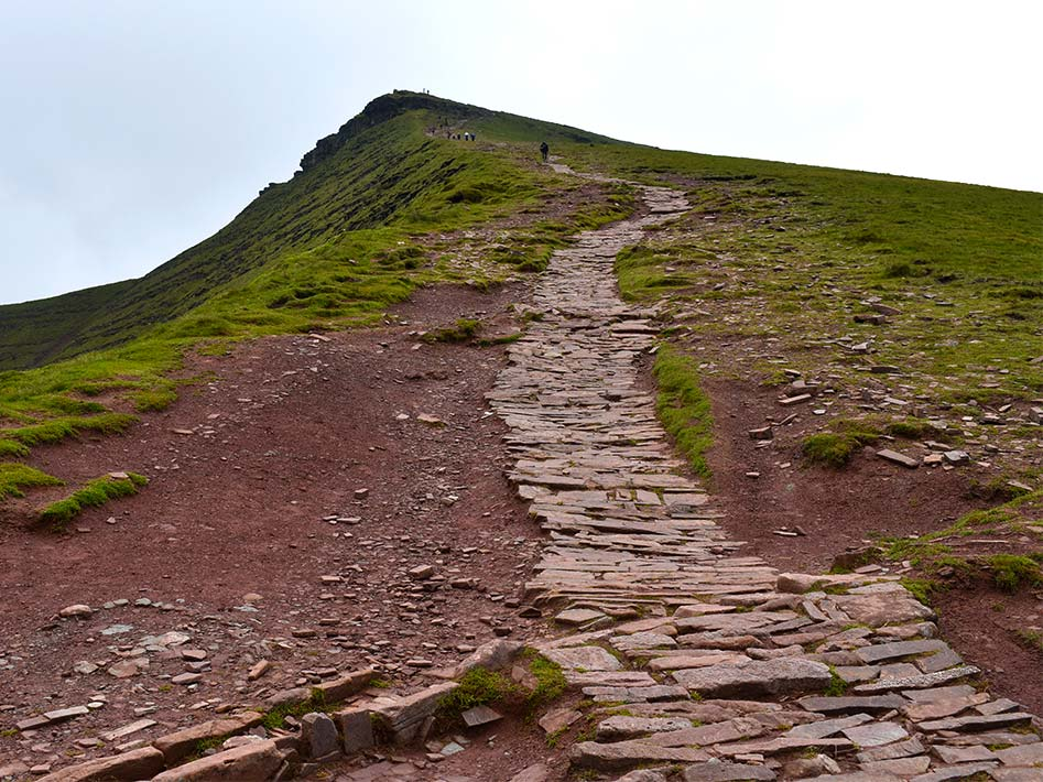 Trail up Pen y Fan