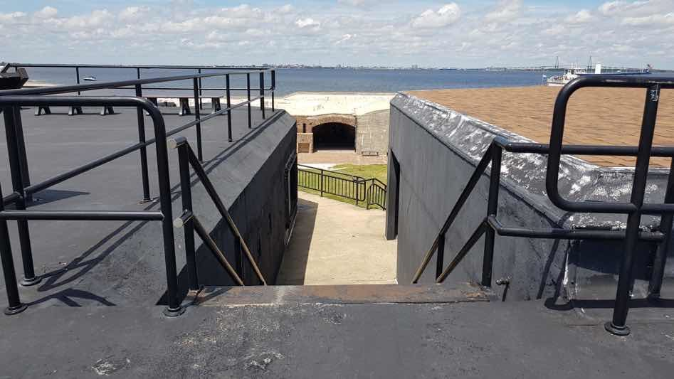 fort sumter stairs