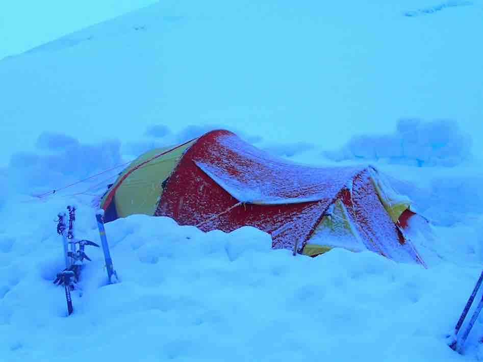 Blizzard Kershaw Peak Antarctica