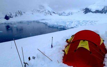 Glacier Camping Kershaw Peaks Antarctica