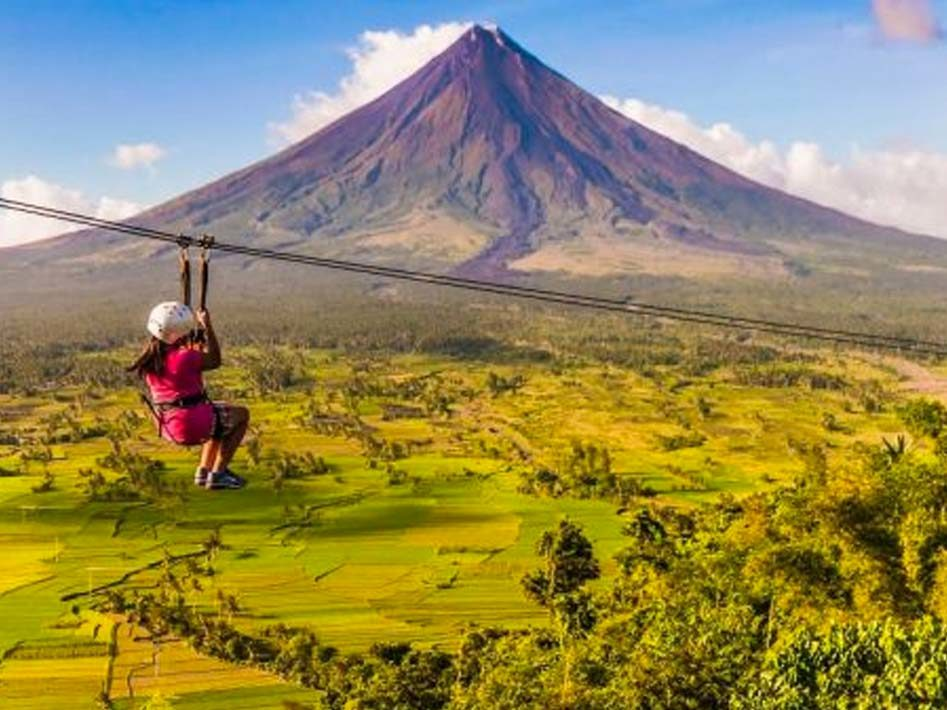 manyon volcano zipline phillipines tourism