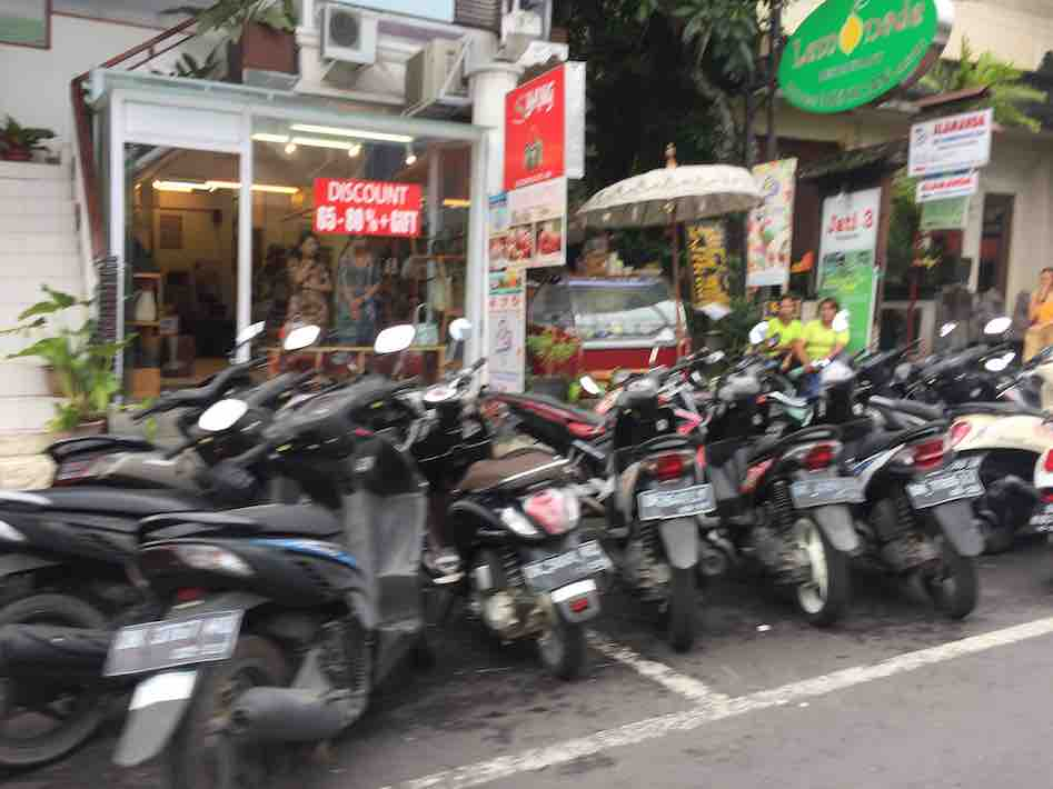 Scooter Parking Bali