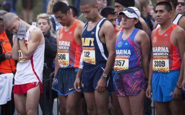 running a marathon race day