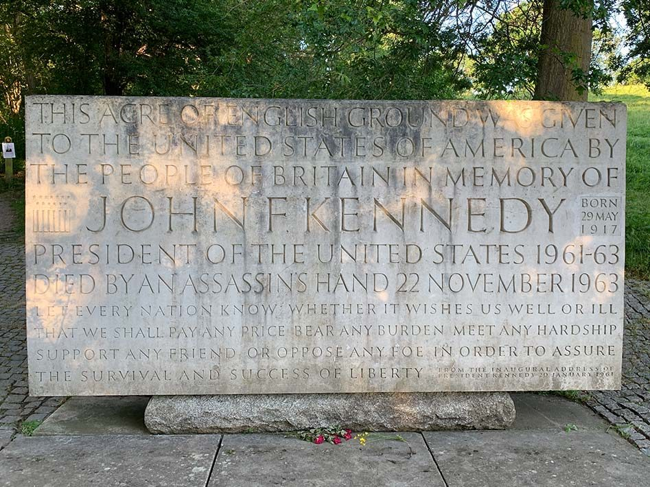 John F. Kennedy Memorial in Runnymede