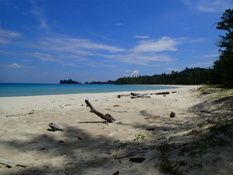 sandy empty kudat beach borneo