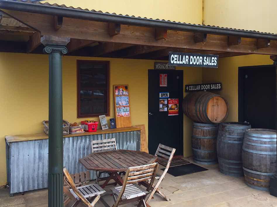 tractorless vineyard cellar door