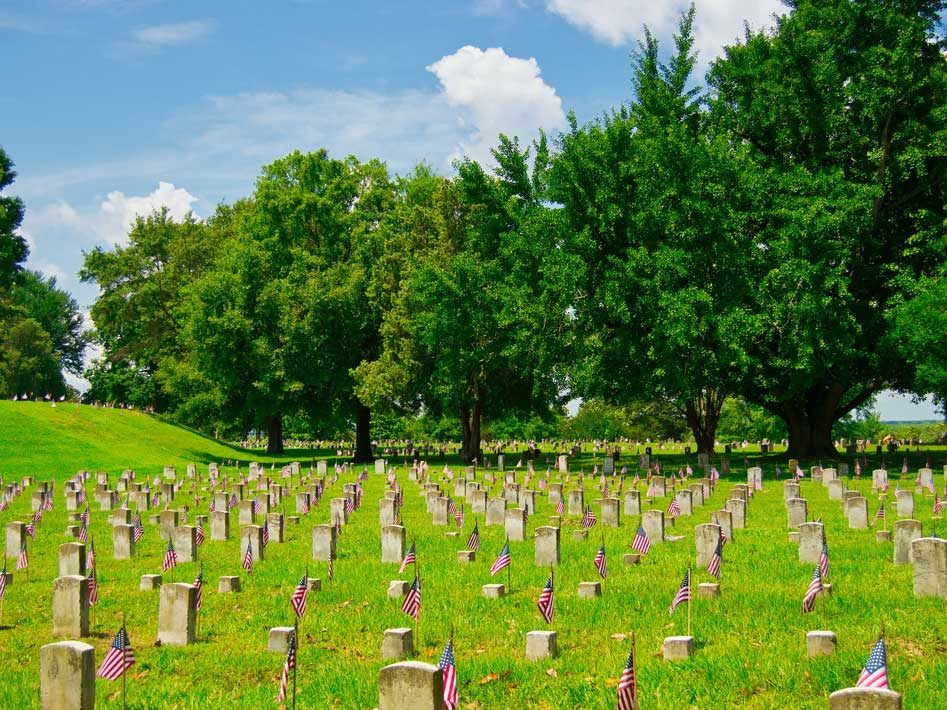 Civil War Cemetary in Vicksburg, Mississippi