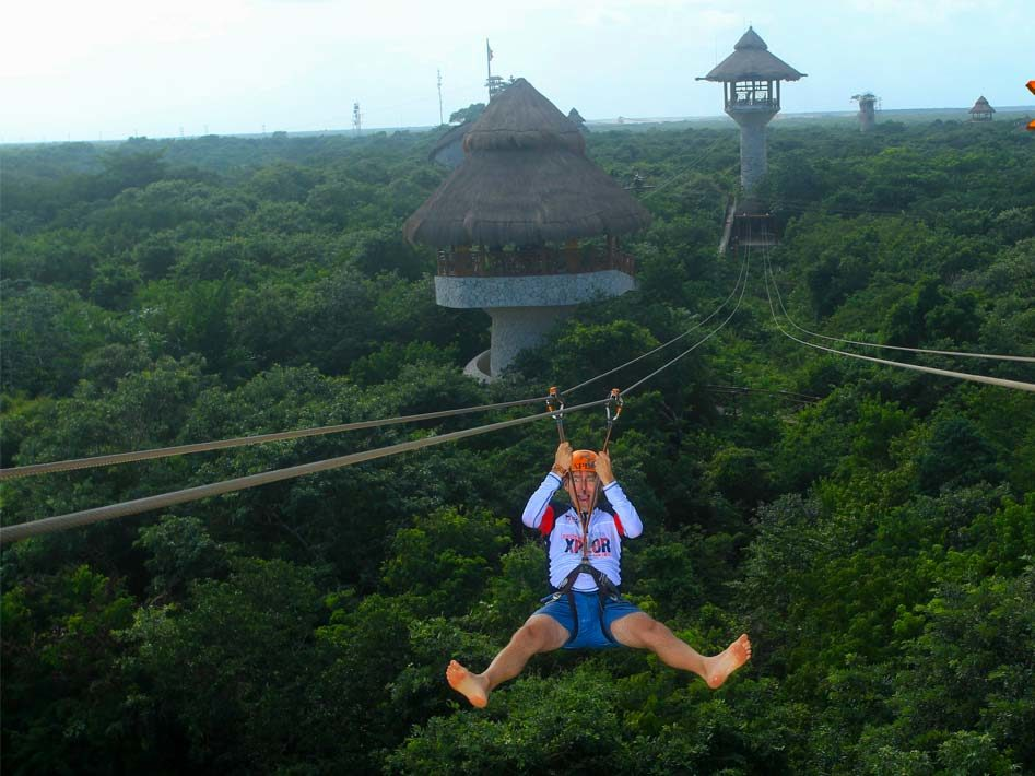 xplor zip-line cancun